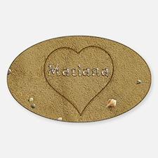 Mariana Beach Love Sticker (Oval)