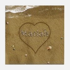 Mariah Beach Love Tile Coaster