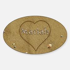 Mariah Beach Love Sticker (Oval)