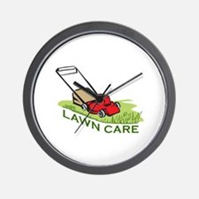 LAWN CARE Wall Clock