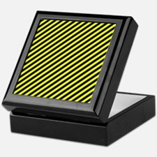 Warning Stripes Pattern Keepsake Box