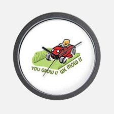 WE MOW IT Wall Clock