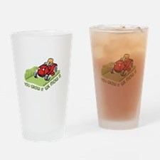WE MOW IT Drinking Glass