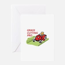 GRASS CUTTING PRO Greeting Cards