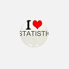 I Love Statistics Mini Button (10 pack)