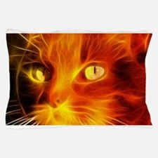Fiery Cat Pillow Case