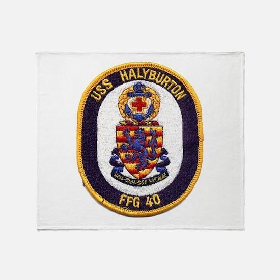 USS HALYBURTON Throw Blanket