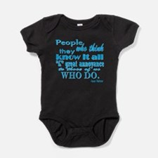 Know it all-turquoise Baby Bodysuit