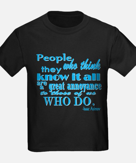 Know it all-turquoise T-Shirt