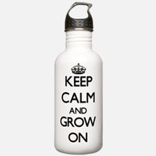 Keep Calm and Grow ON Water Bottle