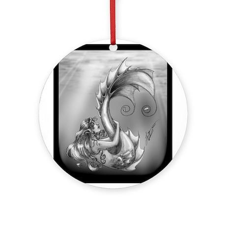 Mermaid Ornament (Round)