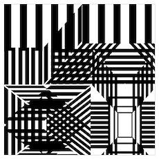 Avant Garde Zebra Poster