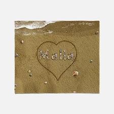 Malia Beach Love Throw Blanket