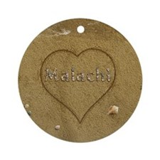 Malachi Beach Love Ornament (Round)