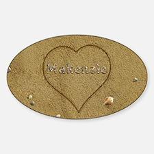 Makenzie Beach Love Sticker (Oval)