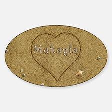 Makayla Beach Love Sticker (Oval)