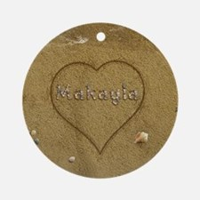 Makayla Beach Love Ornament (Round)
