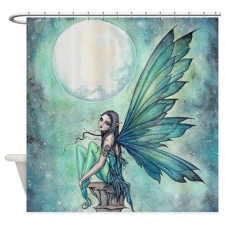 cute celestial shower curtain