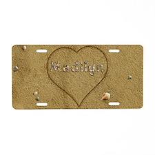 Madilyn Beach Love Aluminum License Plate
