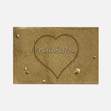 Madeleine Beach Love Rectangle Magnet