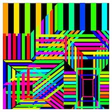 Trippy Stripes Poster