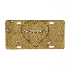 Maddox Beach Love Aluminum License Plate
