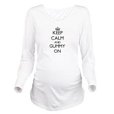 Keep Calm and Gummy Long Sleeve Maternity T-Shirt