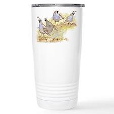 Covey of California Quail Birds Travel Mug