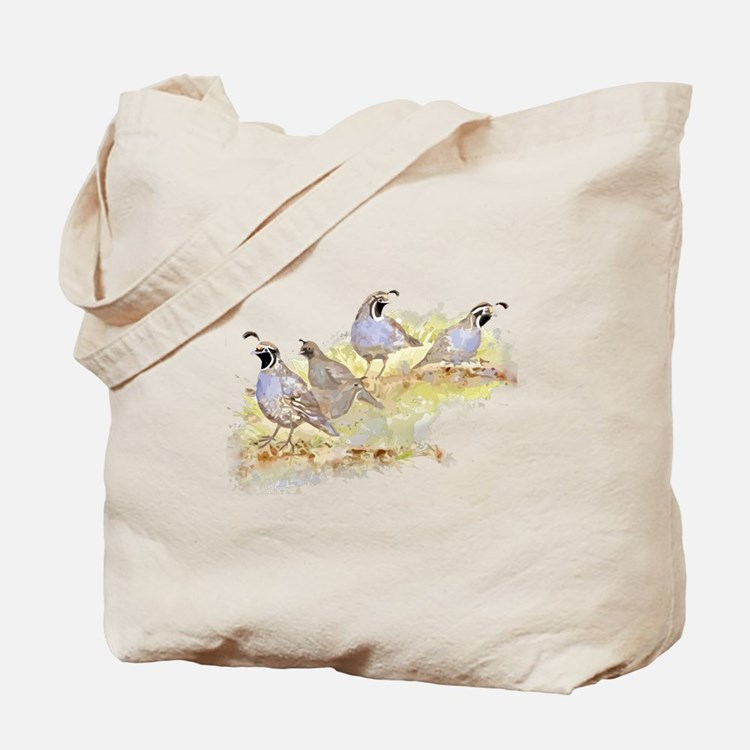 Covey of California Quail Birds Tote Bag