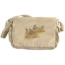 Covey of California Quail Birds Messenger Bag
