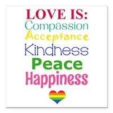 """Love Is... Square Car Magnet 3"""" X 3"""""""