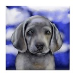 WEIMARANER DOG PUPPY Tile Coaster