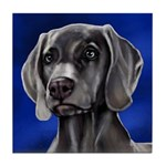 WEIMARANER DOG tile coaster