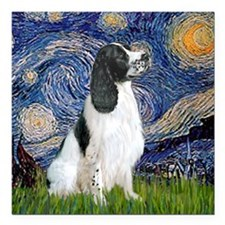 "Starry - English Springer7 Square Car Magnet 3"" x"
