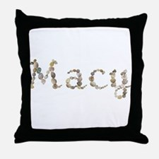 Macy Seashells Throw Pillow
