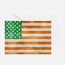 Irish American Flag Greeting Card