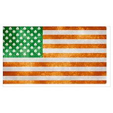 Irish American Flag Poster