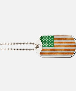 Irish American Flag Dog Tags