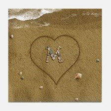 M Beach Love Tile Coaster