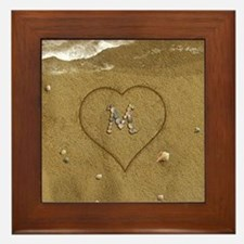 M Beach Love Framed Tile