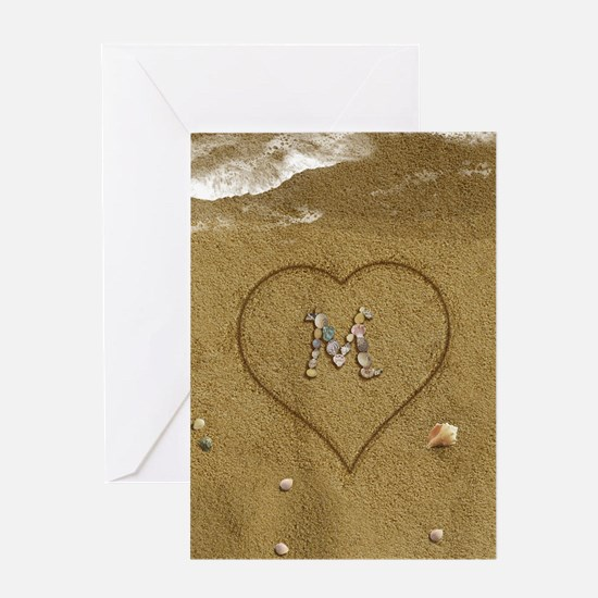 M Beach Love Greeting Card