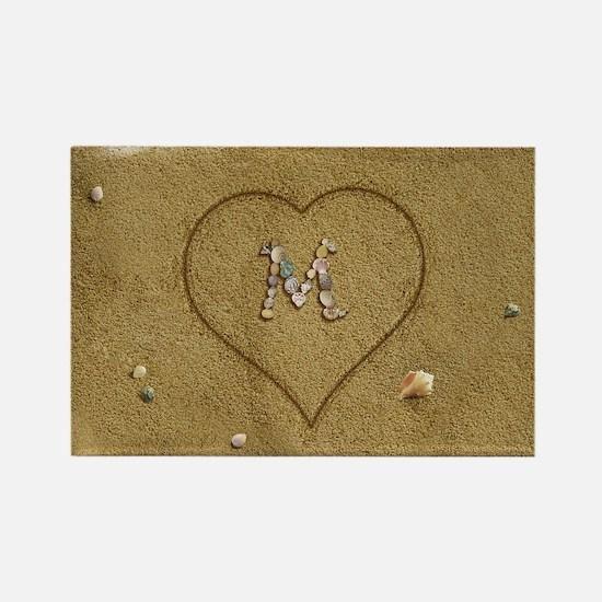 M Beach Love Rectangle Magnet