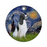 Starry - English Springer7 Ornament (round)