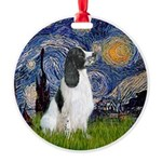 Starry - English Springer7 Round Ornament