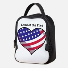 Land Of Free Neoprene Lunch Bag