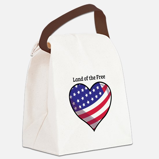 Land Of Free Canvas Lunch Bag