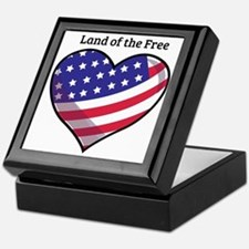 Land Of Free Keepsake Box