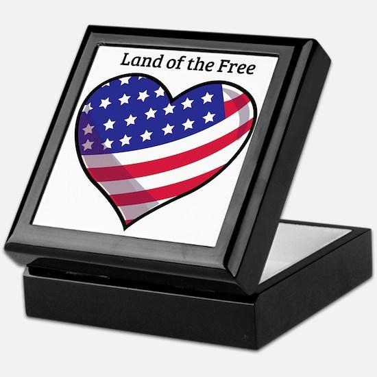 Land Of Free Keepsake Box