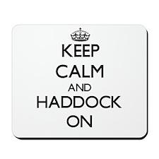 Keep Calm and Haddock ON Mousepad