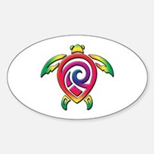 Rainbow Sea Turtle Decal